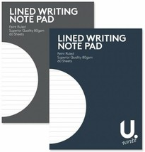 Superior Quality Lined Writing Pad 13.5x17.5cm Writing School Book Black... - $3.71