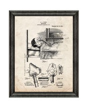 Respirator Patent Print Old Look with Black Wood Frame - $24.95+