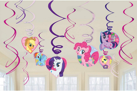 American Greetings My Little Pony Party Supplies, Hanging Swirl Decorations (12- - $20.78