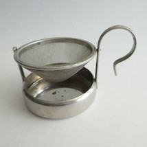 Tea Strainer Mesh Tipping Stainless or Silverplate Marked Germany - $9.00
