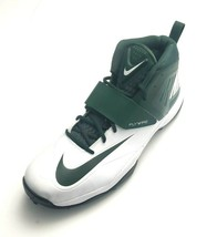 Nike Zoom Code Elite 3/4 Lineman 2015 Football Cleats Green/White Size 18 - $49.50