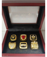 Scottie Pippen *NEW RARE* - Chicago Bulls 6 Championship Ring Set With Wooden Bo - $149.99