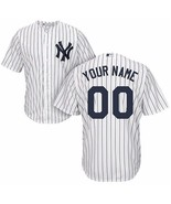 Custom your own jersey men s new york yankees white strip cool base personalized thumbtall