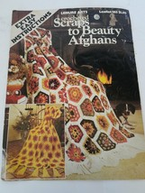 Leisure Arts Crocheted Scraps To Beauty Afghans #163 - $6.17