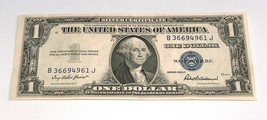 1935 F $1 Blue Seal SILVER Certificate Q 8165 Slightly Off Center Paper ... - $32.18