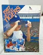 1987 Detroit Tigers Program with 3 Milwaukee Brewers Autographs on score... - $16.69