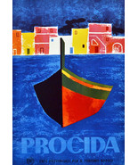 """11x14""""Poster on Canvas.Home Room Interior design.Travel Italy.Procida.6514 - $28.05"""