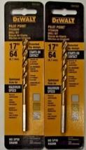 "Dewalt DW1383 17/64"" Titanium Pilot Point Drill Bit 2 Packs - $4.95"