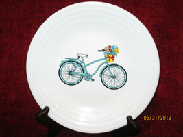 "Homer Laughlin Fiesta bicycle luncheon  plate 9"" - $21.73"