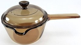 Corning Vision Visions 1 L. Amber Handled Lipped Saucepan with Lid - $35.26