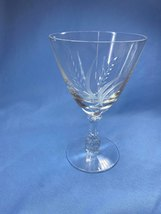 Vintage Fostoria Elegant Etched Pattern Clear Crystal Round Shaped Wine Glass - $14.99