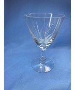Vintage Fostoria Elegant Etched Pattern Clear Crystal Round Shaped Wine ... - $14.99