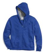 Champion Powerblend Blue Full Zip Authentic Fleece Hoodie Sweatshirt Men... - $39.59