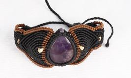 Festival Bracelet Macrame Bracelet Amethyst Gemstone Healing Stones Jewe... - $16.00
