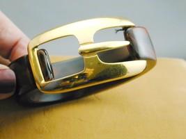 Marbled Lucite Faux Tortoise Crown Trifari Hinged Belt Buckle Bangle Bracelet - $224.99