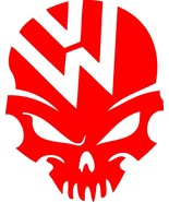 """VW Volkswagen SKULL Height 5"""" 10"""" 12"""" SIZES Available STICKER DECAL - $5.93+"""