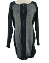 Venus Womens Size XL Black Sweater Dress Silver Zips Party Career Weddin... - $71.25