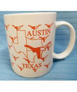 Texas TX State University UT Longhorns Austin Fans Mug Cup Orange  - $22.95