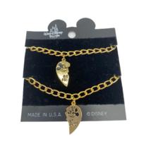 Walt Disney World Parks BFF Bracelets Mickey and Minnie Mouse Gold Tone - $9.95