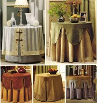 "Christopher Lowell 28"" Round  Accent Table Covers Toppers Sew Pattern Uncut - $13.99"