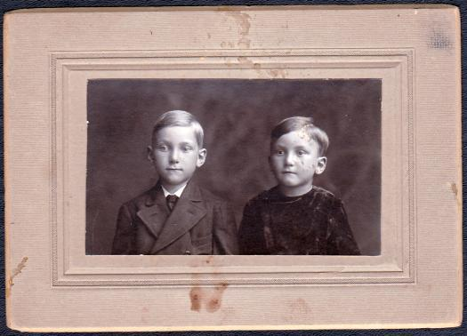 Dick & Brother Weron (?) Schoemann Cabinet Photo of Young Boys