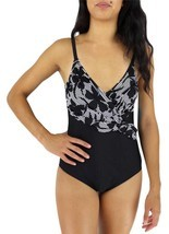 NEW OCEAN JEWEL WOMEN'S BATHING SUIT ONE PIECE BLACK STYLE:0J-2010 SIZE 12