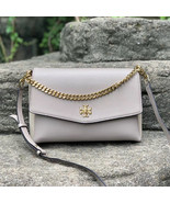New Tory Burch Kira Mixed-Materials Double-Strap Shoulder Bag - $448.00