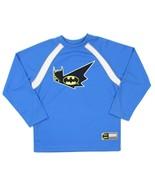 BATMAN Boys DC Comics Blue Long Sleeve Embroidered Shirt Size 10/12 - $18.80