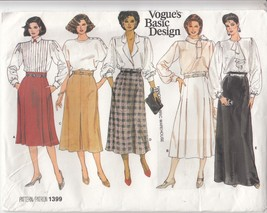 Misses Skirts 5 Variations A-line Flared Long Vogue Sewing Pattern 1399 ... - $12.86