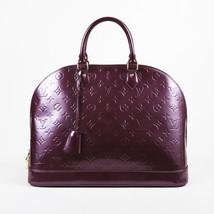 "Louis Vuitton Purple Vernis Leather ""Alma GM"" Top Handle Bag - $1,505.00"