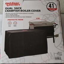 """OUTDOOR GOURMET DUAL SACK CRAWFISH BROILER COVER, 41"""" L x 35"""" W x 32"""" H - $22.76"""