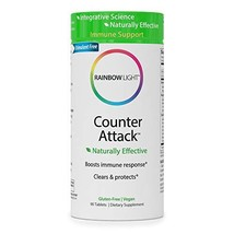 Rainbow Light Counter Attack with Vitamin C & Zinc, 3 targeted blends Immune sup