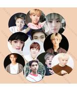 Kpop Seventeen Badge Brooch Chest Pin < Very Nice > Vernon Wonwoo Woozi Jo - $0.99