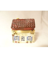 Thatched Roof House Tricket Box China Unsigned - $7.49