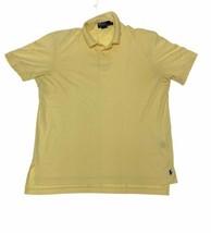Polo by Ralph Lauren Mens Solid Yellow Polo Shirt Size M Medium 100% Pim... - $22.76