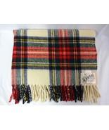 """Wool Travel Rug 38""""x46"""" Kayso reversible tartan picnic blanket Retro Mer... - $44.43"""