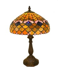 Tiffany-style Peacock Table Lamp - $151.24