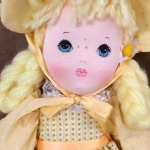 "Applause Daisy soft body doll vintage yellow dress hair Piorette 16""  image 3"