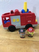 Fisher Price Little People Fire Truck Light Sounds 2 People Included Christmas - $16.99