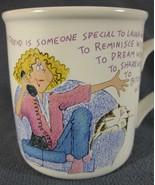 A Friend is Someone Special Coffee Mug Cup Novelty Joke Stoneware 10oz - $17.95