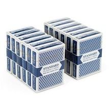 12 Blue Decks Wide Size Jumbo-Index Plastic-Coated Playing Cards by Bryb... - $24.70