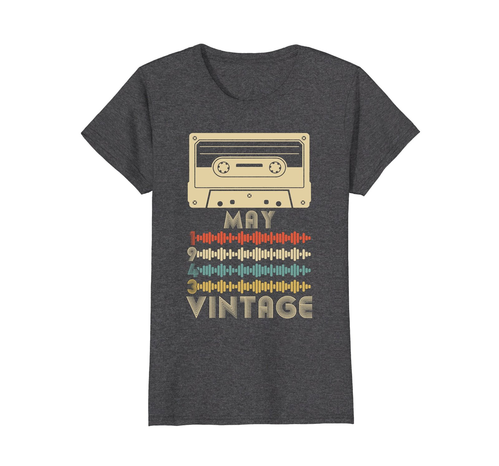 Funny Shirts - Vintage Retro Made In May 1943 75th Birthday Gift 75 yrs old Wowe