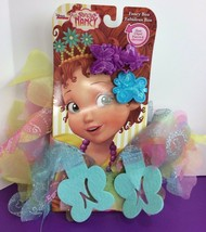 Disney Junior Fancy Nancy Multi Color Boa with Hair Clips Jakks NIP Costume - $12.19