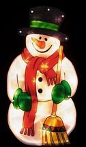 ULTRA BRIGHT LED LIGHT-UP METALLIC SNOWMAN SILHOUETTE CHRISTMAS DECORATION - $4.00