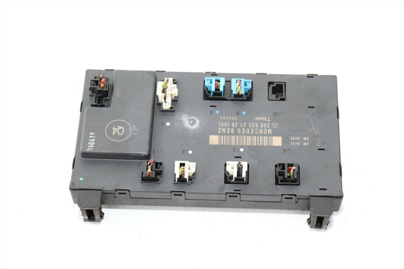 W209 Mercedes Clk320 Clk550 Clk55 Driver Left Door Control Module A209-820-21-26