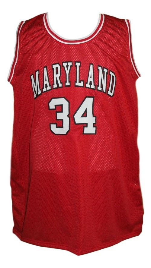 Len bias  34 college basketball jersey red   1