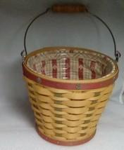 Longaberger 2003 Heritage Days Pail Basket Set  - $41.16