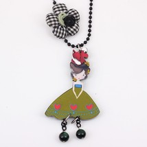 girls doll handmade necklace pendant acrylic  2015 news accessories spri... - $13.56