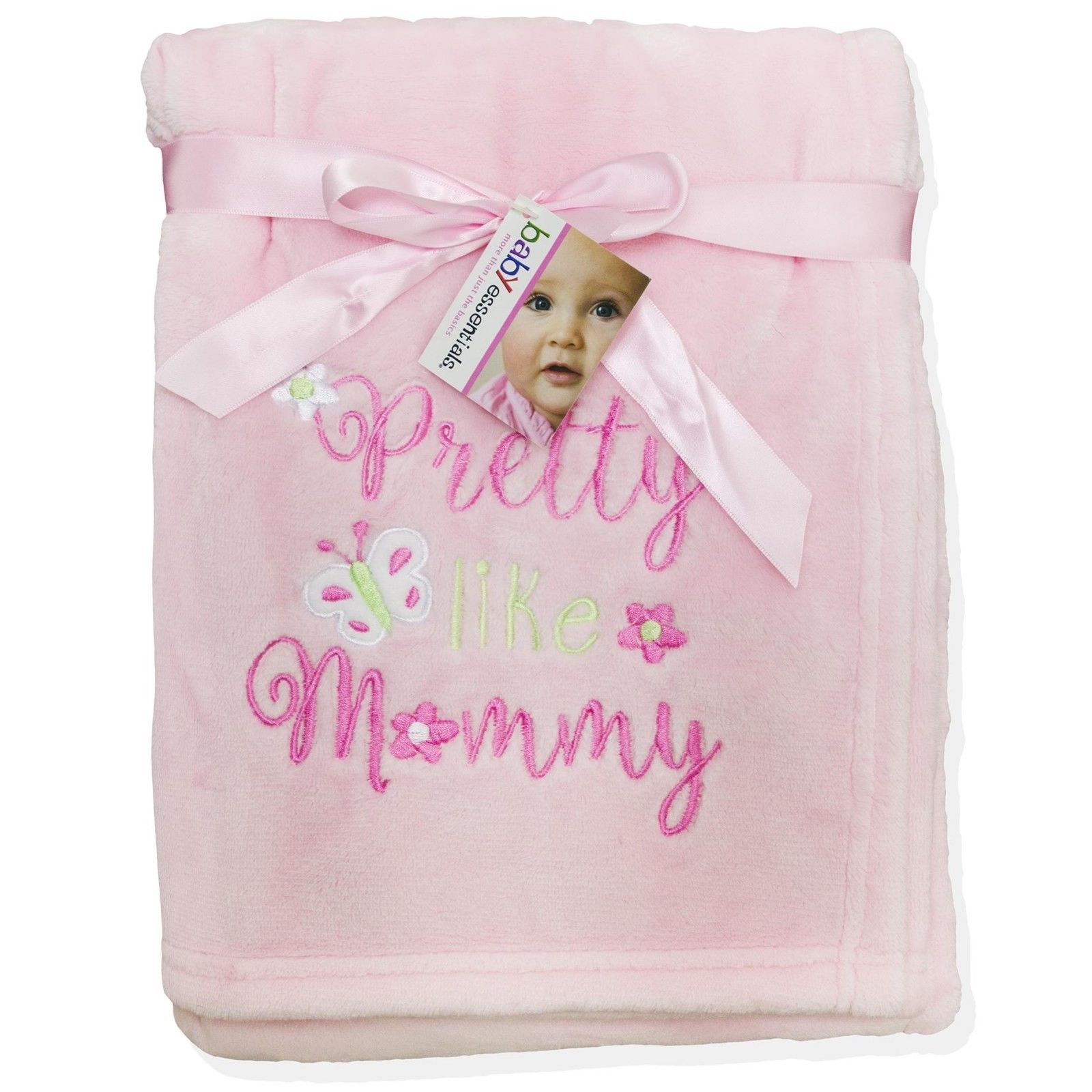 Baby Essentials Baby Essentials Infant Girl's Plush Blanket - Pretty Like Mommy