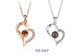 "XUFAN Romantic Projection (""I Love You"") Ladies Pendant - Various Styles, CZ image 7"